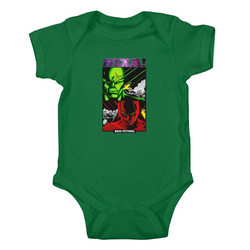 Nixa/Klute Kids Baby Bodysuit by MaddFictional's Artist Shop