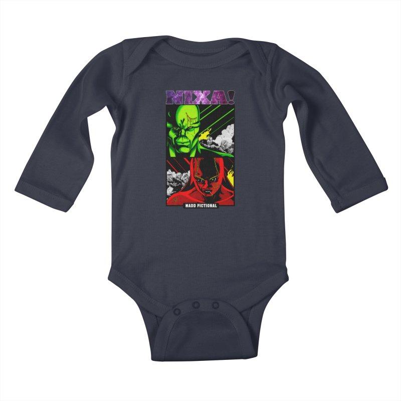 Nixa/Klute Kids Baby Longsleeve Bodysuit by MaddFictional's Artist Shop