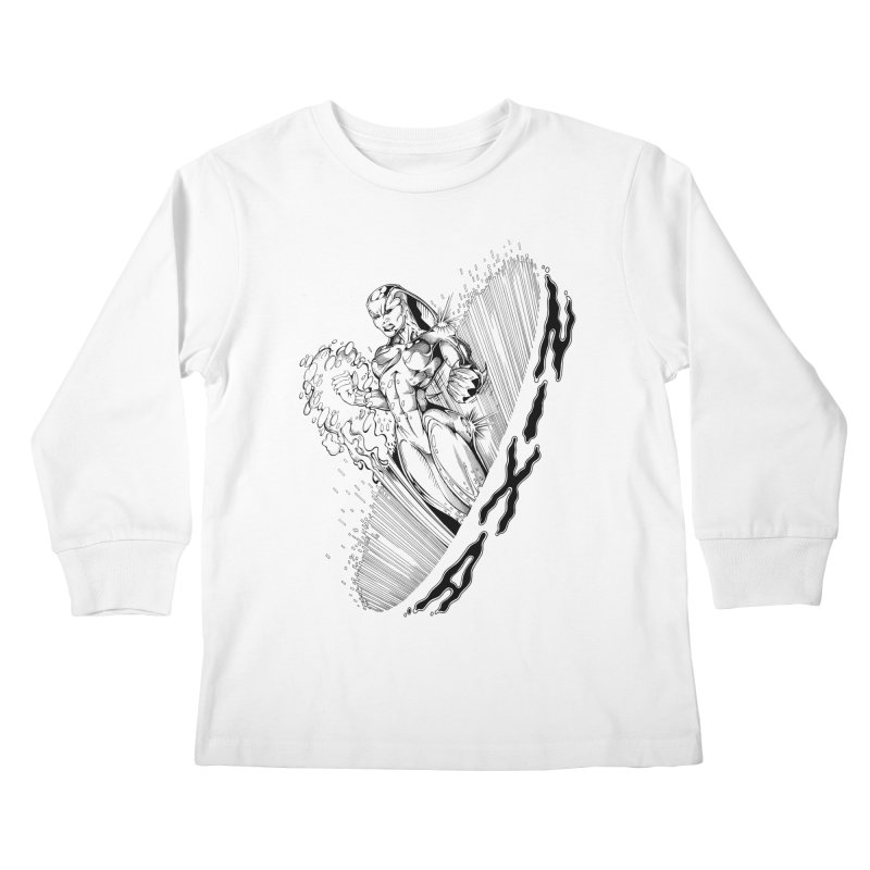 Nixa Wormhole Kids Longsleeve T-Shirt by MaddFictional's Artist Shop