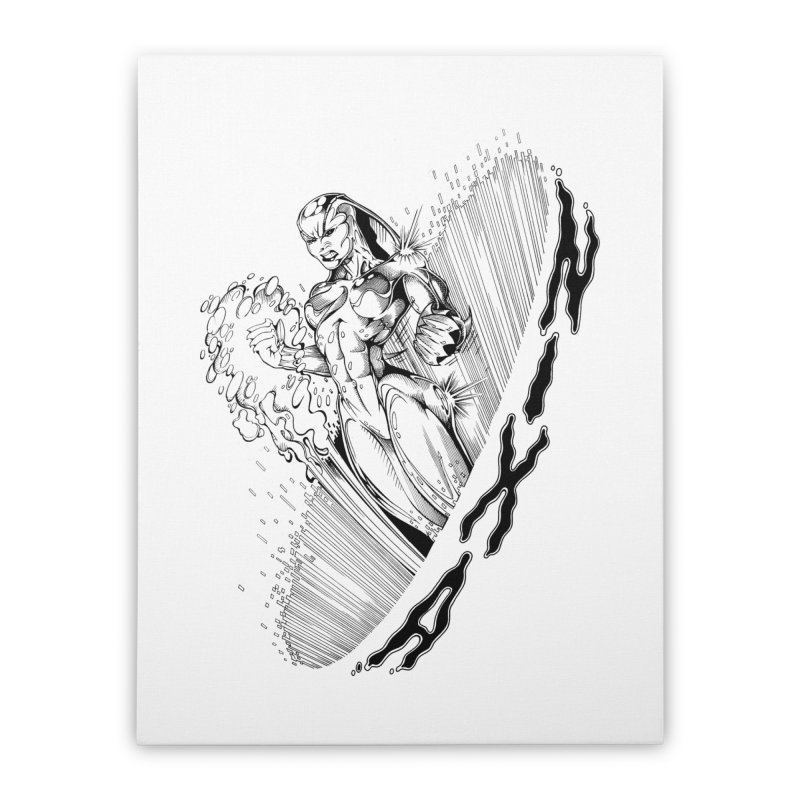 Nixa Wormhole Home Stretched Canvas by MaddFictional's Artist Shop