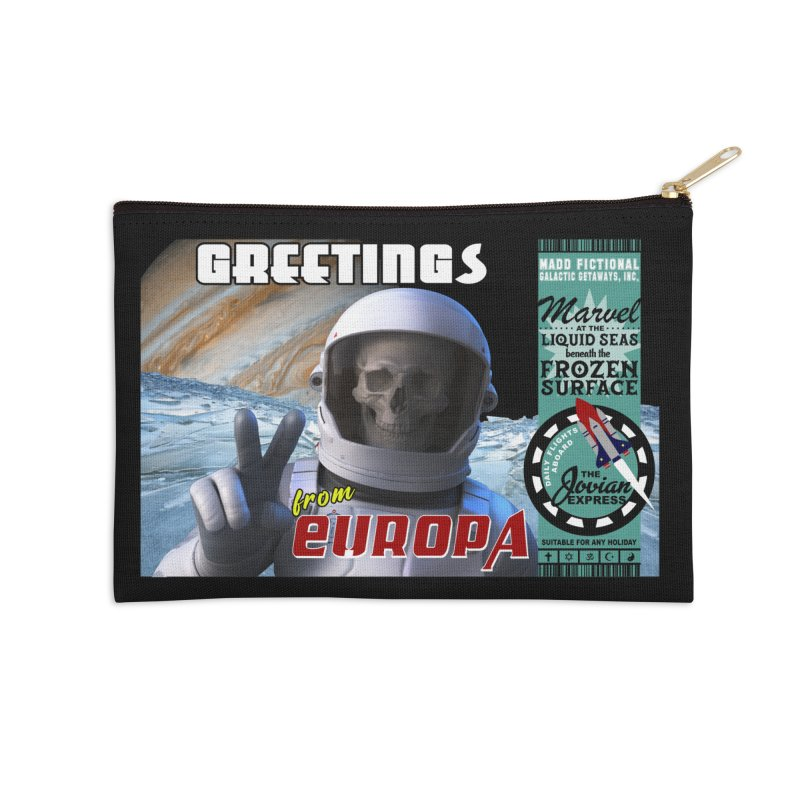 Greetings From Europa Accessories Zip Pouch by MaddFictional's Artist Shop