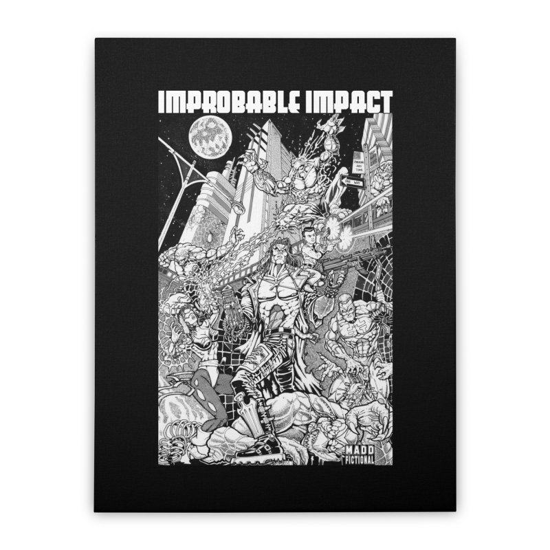 Trachnevid War - Improbable Impact Home Stretched Canvas by MaddFictional's Artist Shop