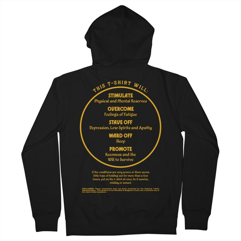 This T-Shirt Will Stimulate Men's Zip-Up Hoody by MaddFictional's Artist Shop