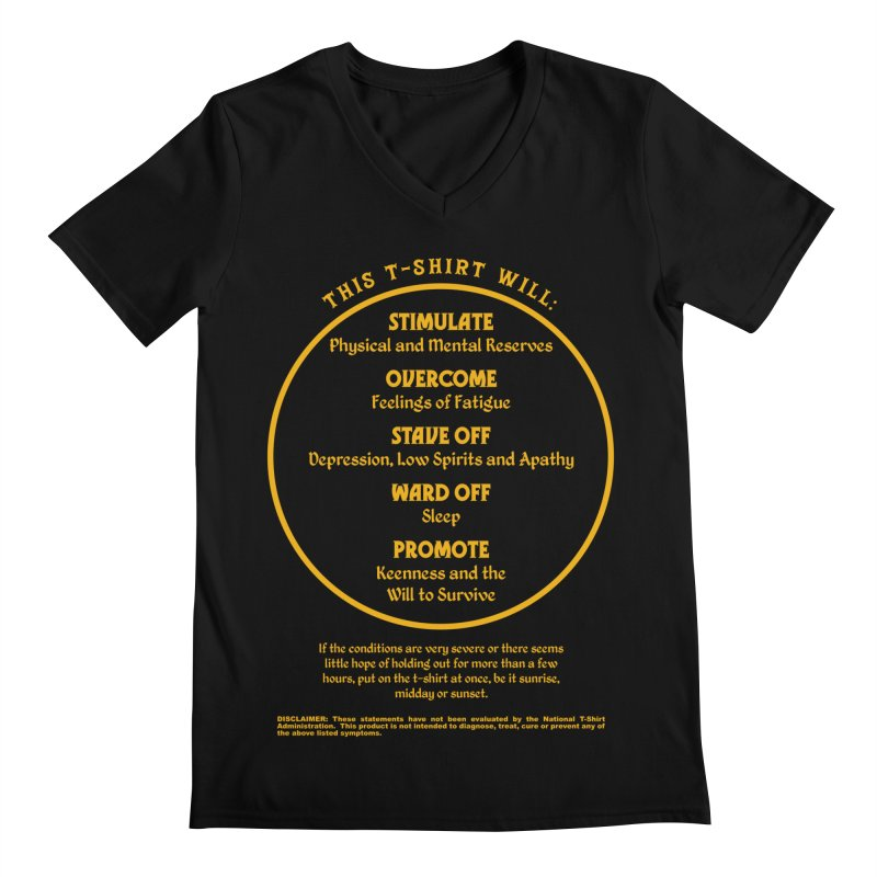 This T-Shirt Will Stimulate Men's V-Neck by MaddFictional's Artist Shop