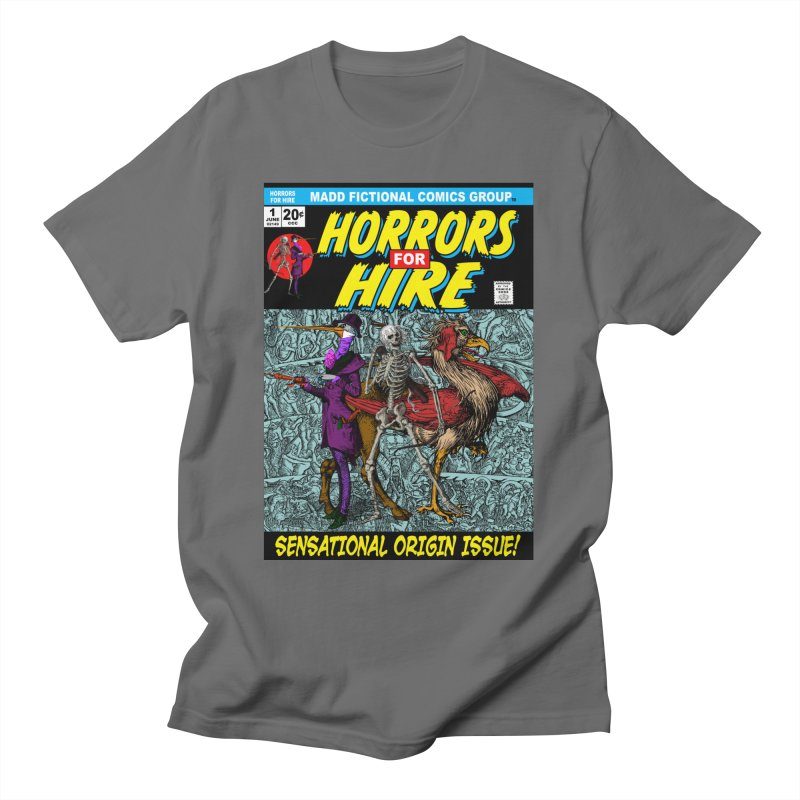 Horrors For Hire Comic Book Cover Men's T-Shirt by MaddFictional's Artist Shop