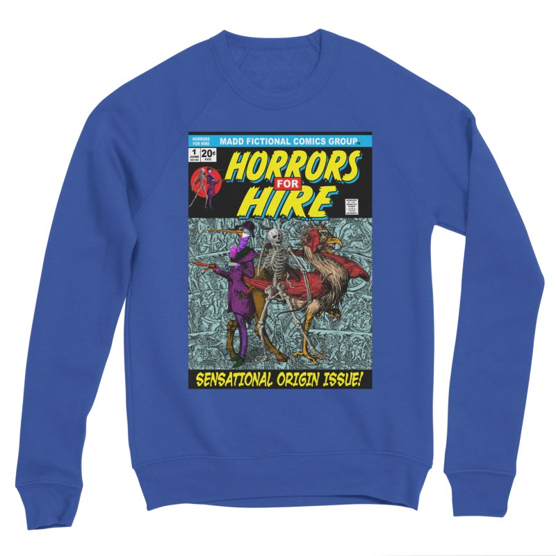 Horrors For Hire Comic Book Cover Men's Sweatshirt by MaddFictional's Artist Shop