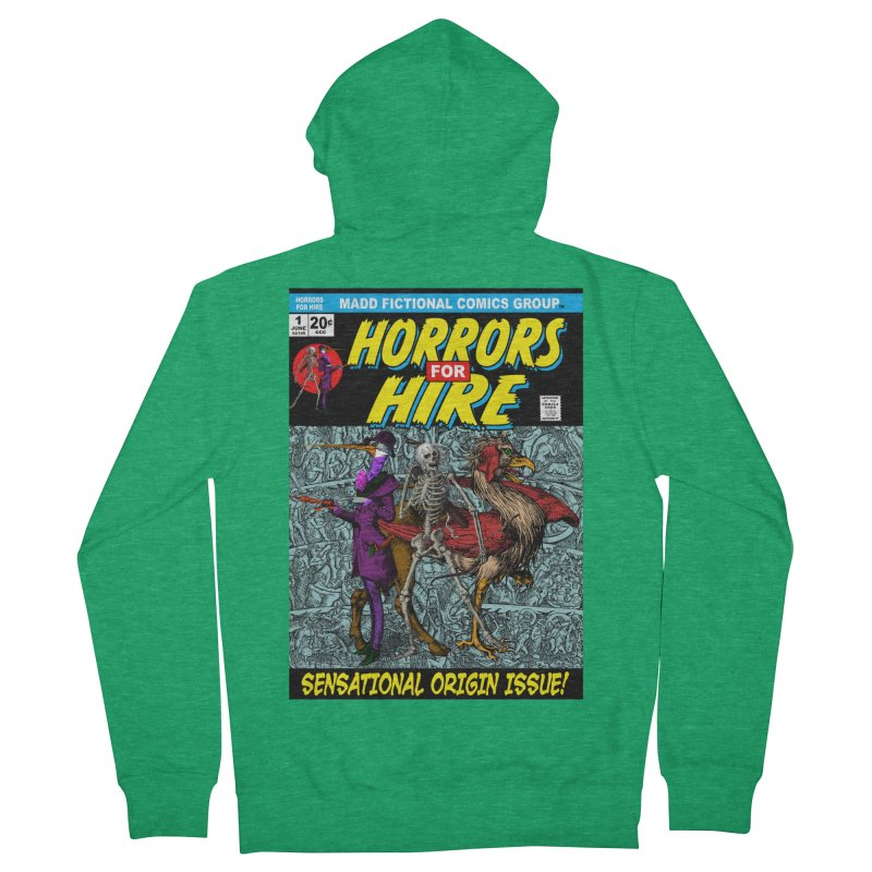 Horrors For Hire Comic Book Cover Women's Zip-Up Hoody by MaddFictional's Artist Shop