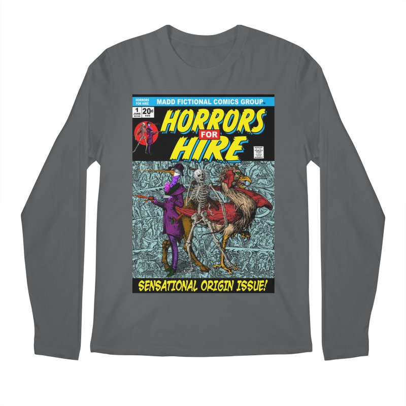 Horrors For Hire Comic Book Cover Men's Longsleeve T-Shirt by MaddFictional's Artist Shop