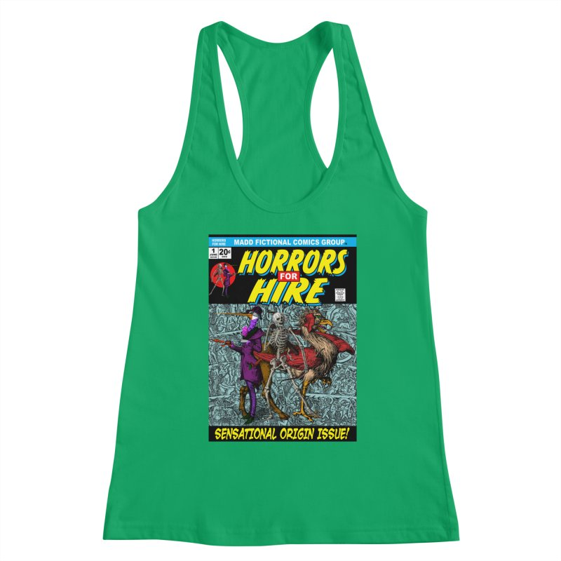 Horrors For Hire Comic Book Cover Women's Tank by MaddFictional's Artist Shop