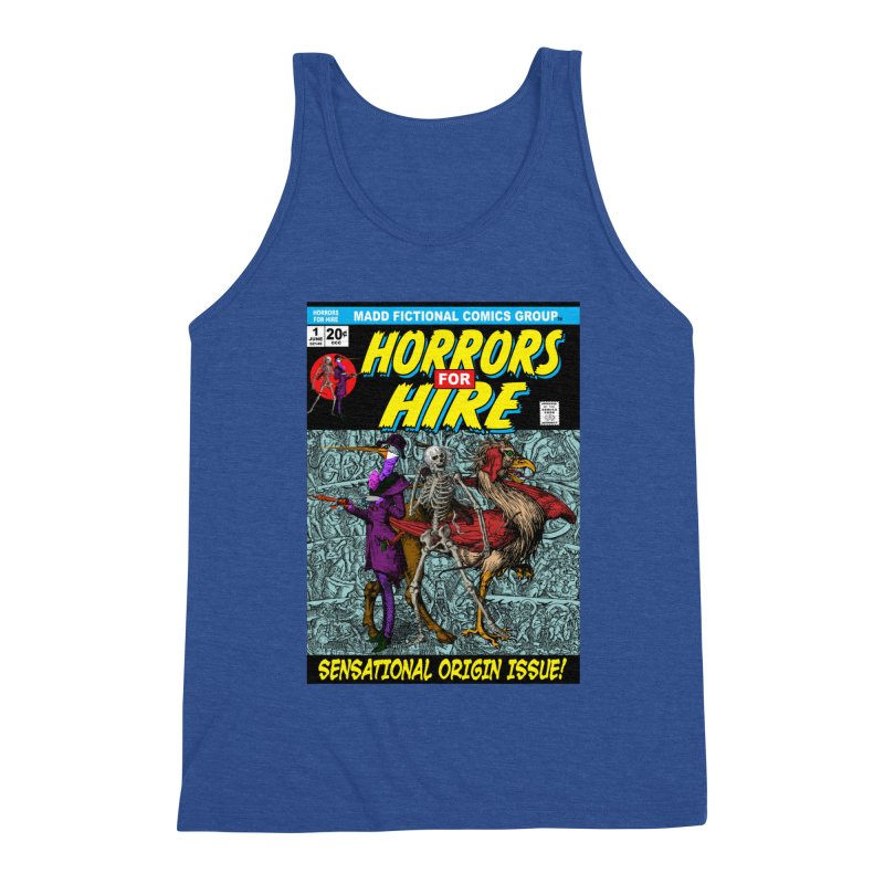 Horrors For Hire Comic Book Cover Men's Tank by MaddFictional's Artist Shop