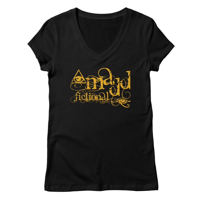 Madd Fictional All-Seeing Eye of Horus Women's V-Neck by MaddFictional's Artist Shop
