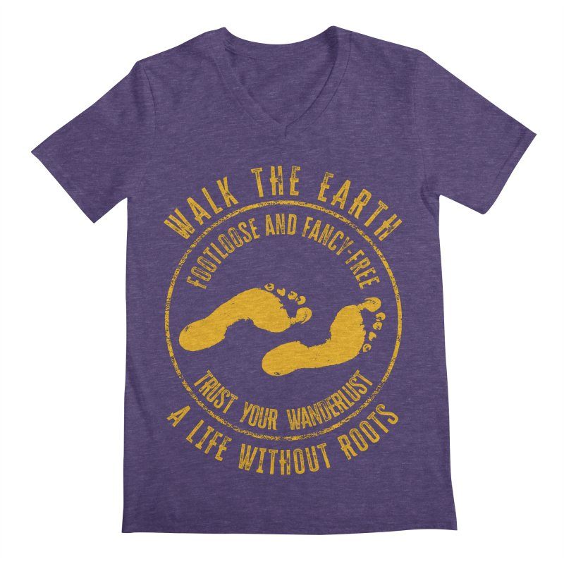Walk The Earth Men's V-Neck by MaddFictional's Artist Shop