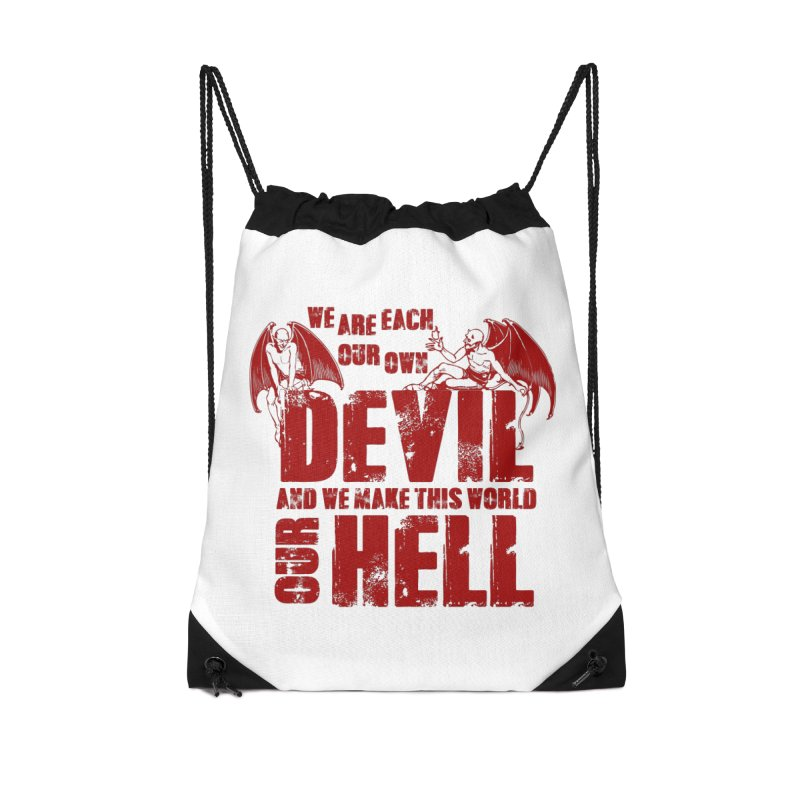 We Are Each Our Own Devil Accessories Bag by MaddFictional's Artist Shop