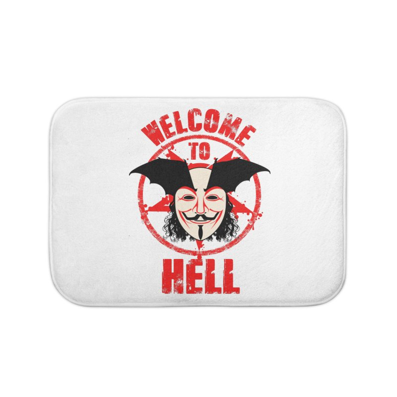Welcome To Hell Home Bath Mat by MaddFictional's Artist Shop