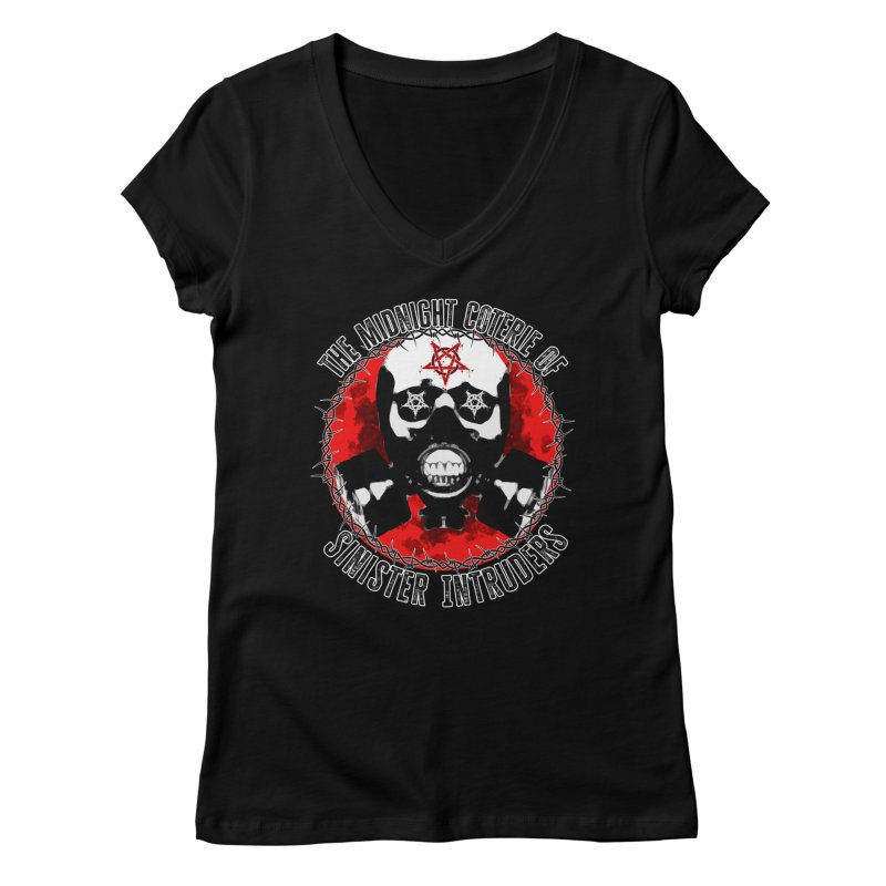 The Midnight Coterie of Sinister Intruders Women's V-Neck by MaddFictional's Artist Shop