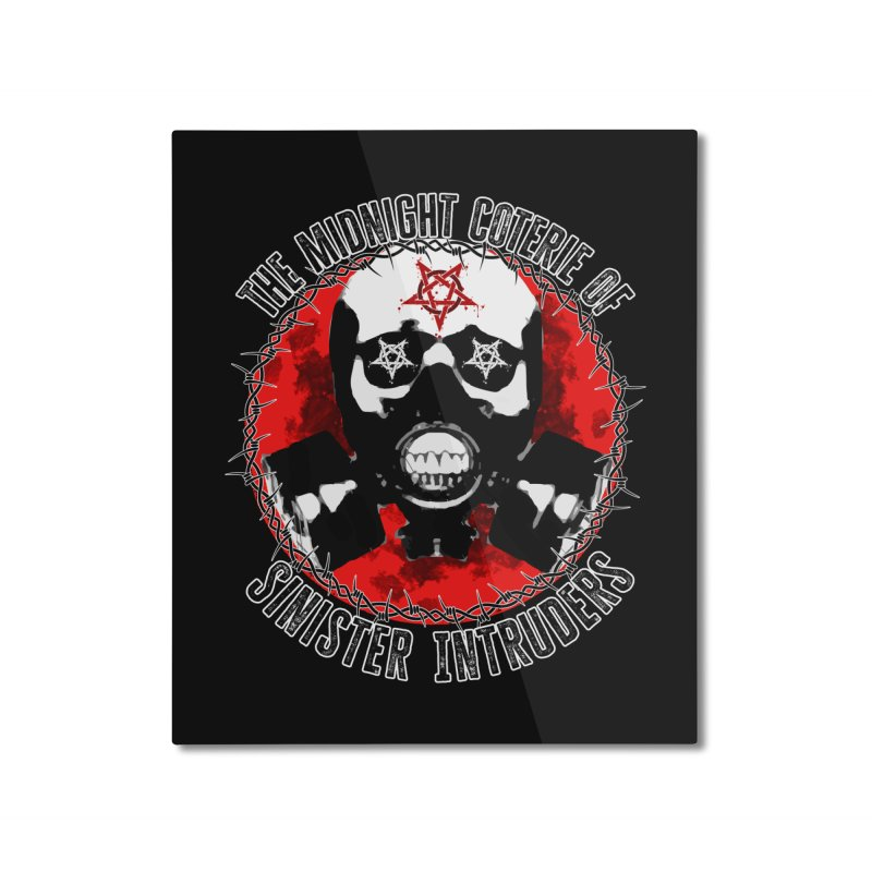 The Midnight Coterie of Sinister Intruders Home Mounted Aluminum Print by MaddFictional's Artist Shop