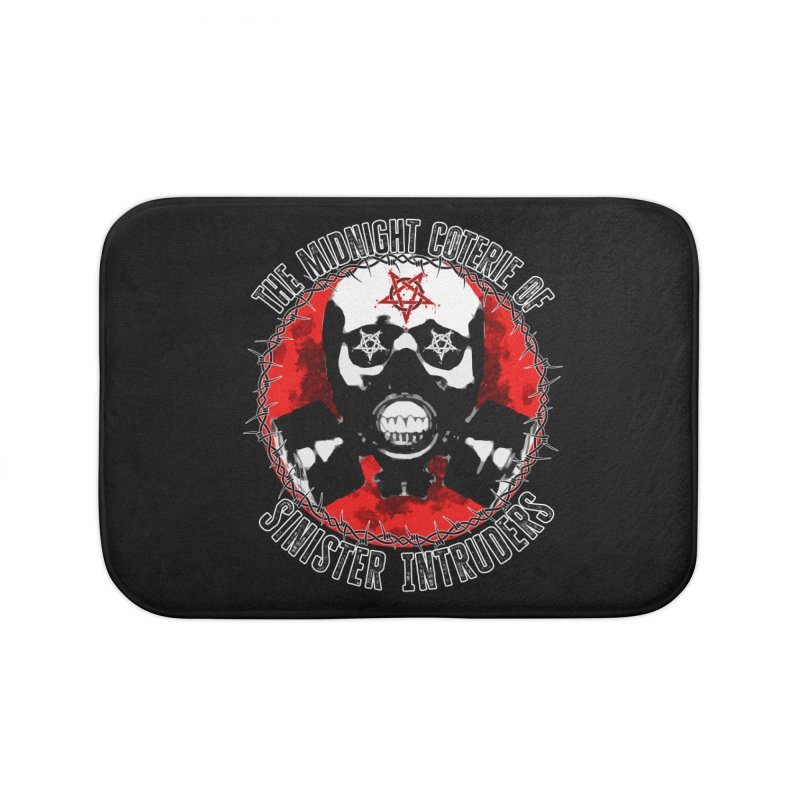 The Midnight Coterie of Sinister Intruders Home Bath Mat by MaddFictional's Artist Shop