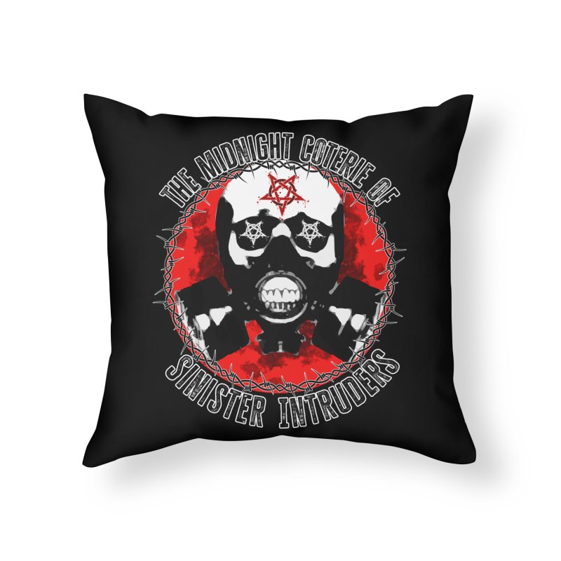 The Midnight Coterie of Sinister Intruders Home Throw Pillow by MaddFictional's Artist Shop