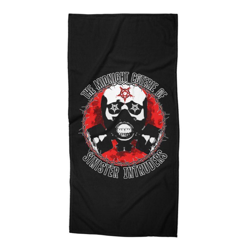 The Midnight Coterie of Sinister Intruders Accessories Beach Towel by MaddFictional's Artist Shop