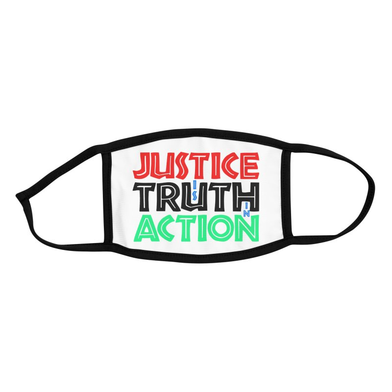 Justice is Truth in Action Accessories Face Mask by MaddFictional's Artist Shop