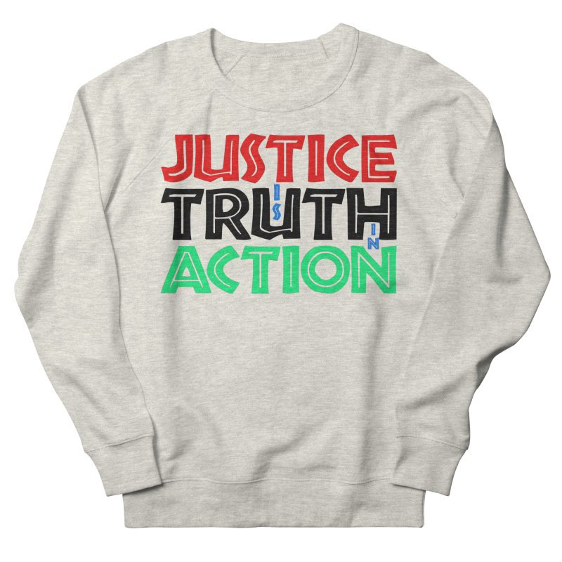 Justice is Truth in Action Men's Sweatshirt by MaddFictional's Artist Shop