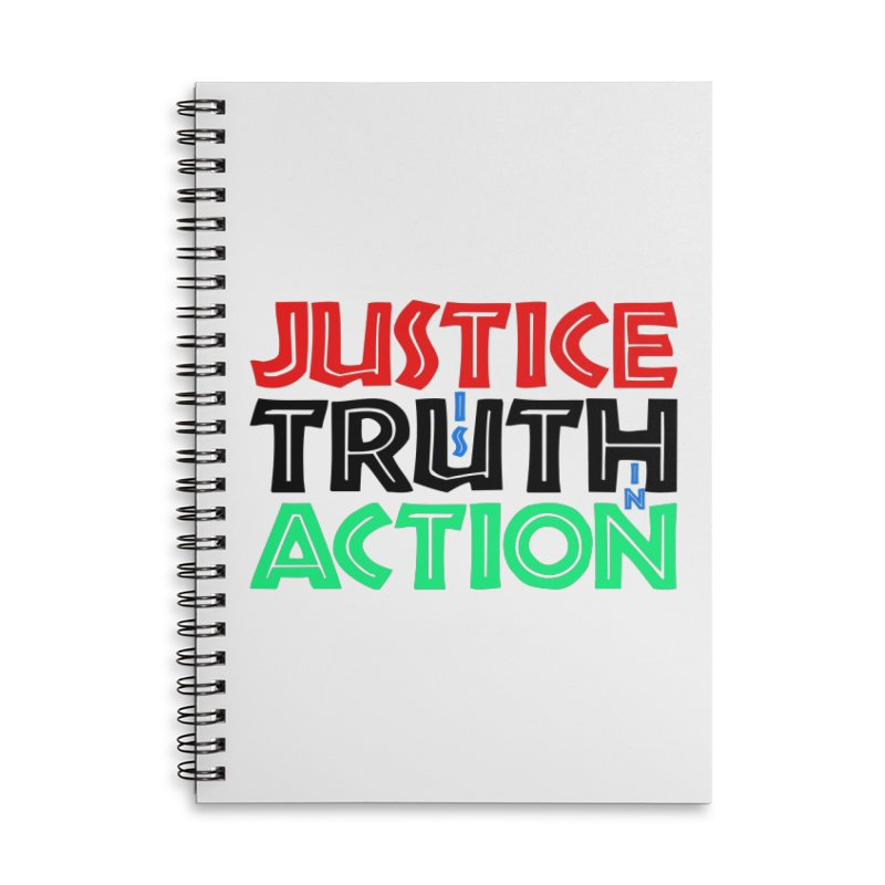Justice is Truth in Action Accessories Notebook by MaddFictional's Artist Shop