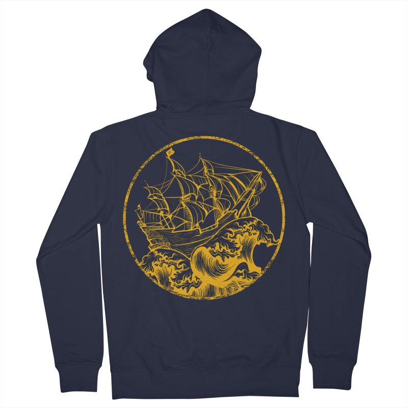 Ship To Wreck Men's Zip-Up Hoody by MaddFictional's Artist Shop