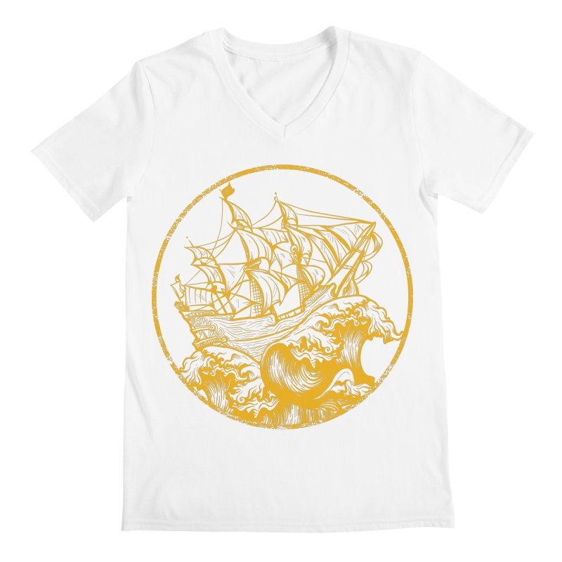 Ship To Wreck Men's V-Neck by MaddFictional's Artist Shop