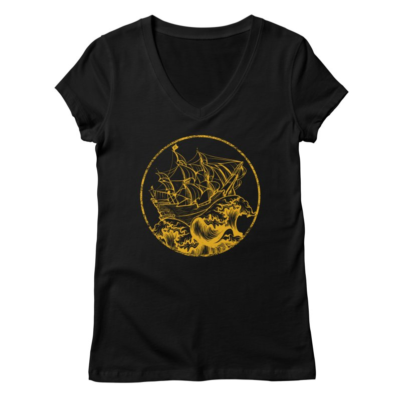 Ship To Wreck Women's V-Neck by MaddFictional's Artist Shop