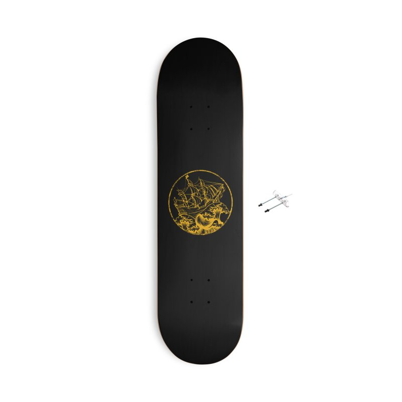 Ship To Wreck Accessories Skateboard by MaddFictional's Artist Shop