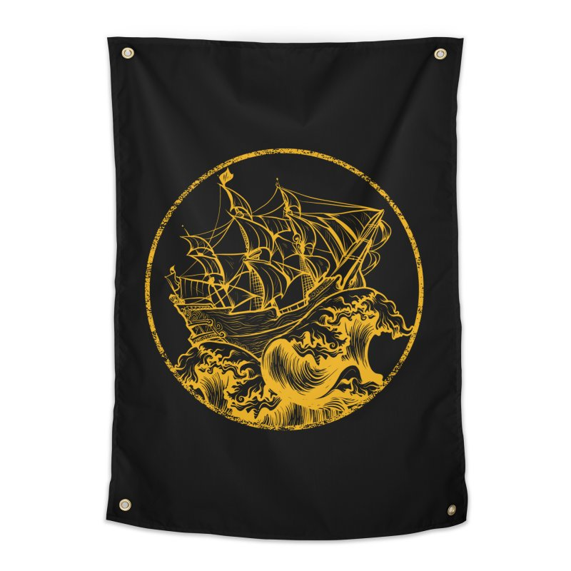 Ship To Wreck Home Tapestry by MaddFictional's Artist Shop