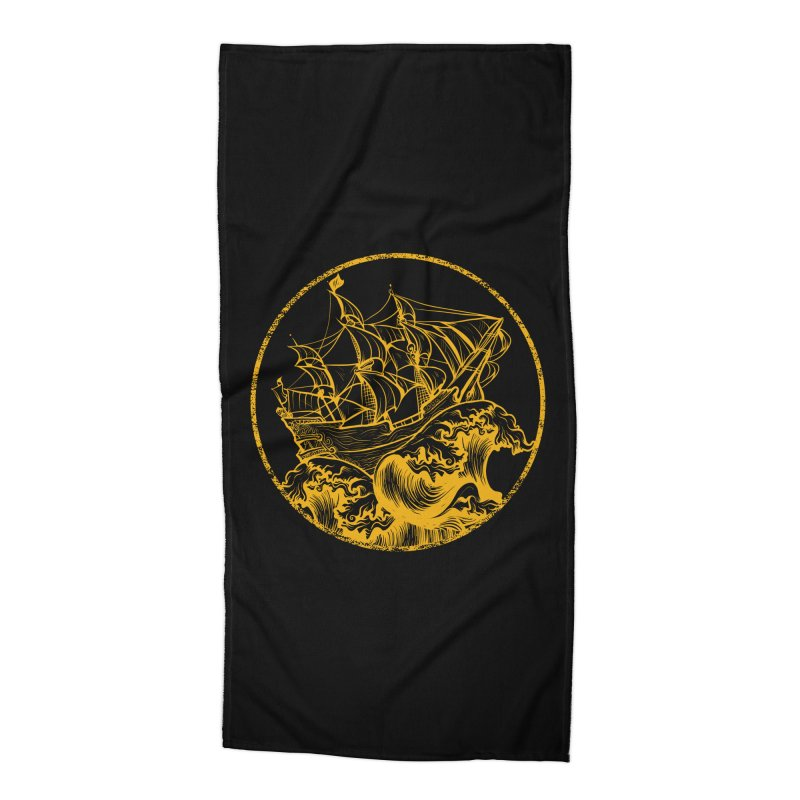 Ship To Wreck Accessories Beach Towel by MaddFictional's Artist Shop