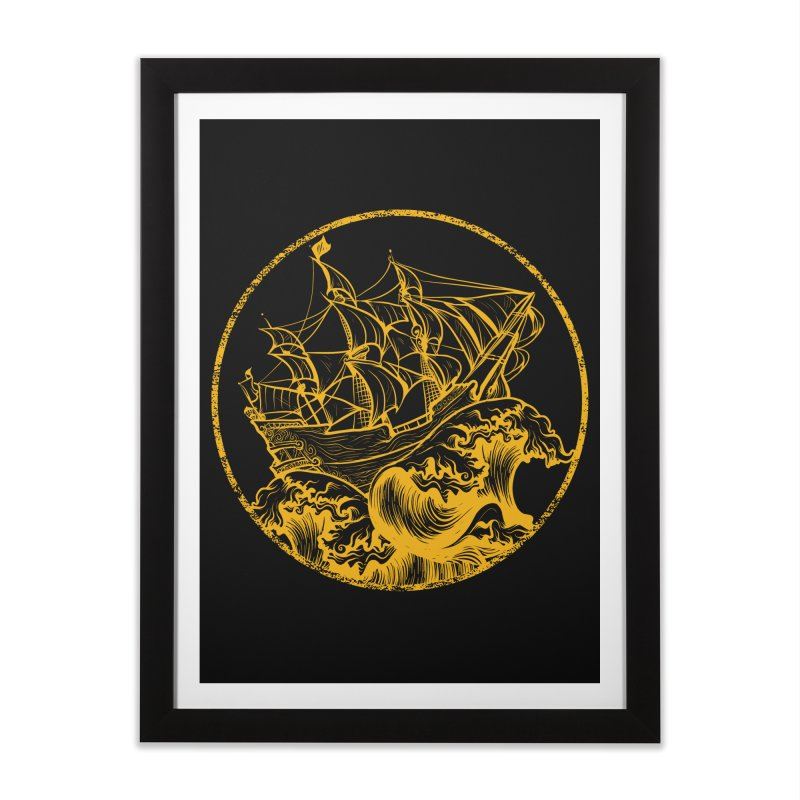 Ship To Wreck Home Framed Fine Art Print by MaddFictional's Artist Shop