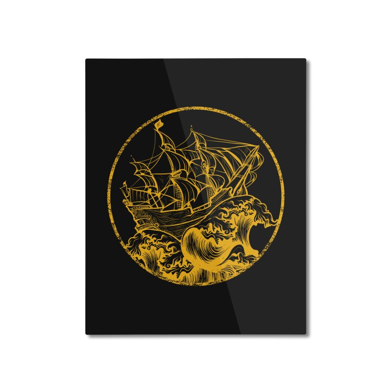 Ship To Wreck Home Mounted Aluminum Print by MaddFictional's Artist Shop