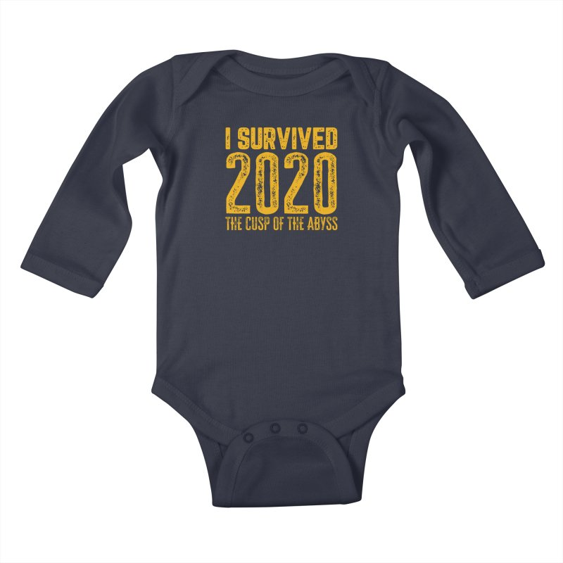 I Survived 2020 Kids Baby Longsleeve Bodysuit by MaddFictional's Artist Shop