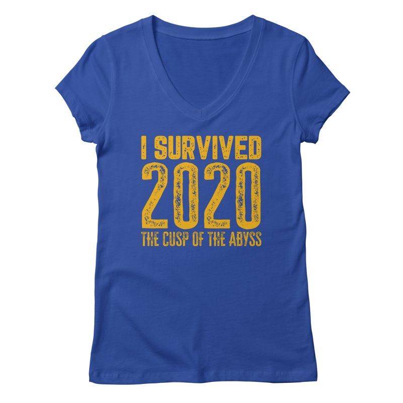 I Survived 2020 Women's V-Neck by MaddFictional's Artist Shop
