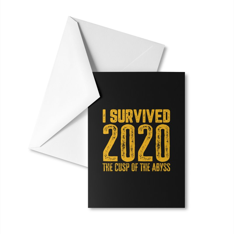 I Survived 2020 Accessories Greeting Card by MaddFictional's Artist Shop