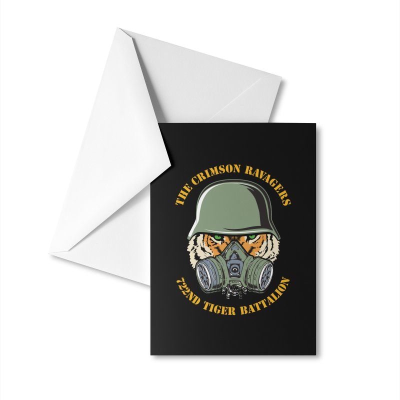 The Crimson Ravagers Accessories Greeting Card by MaddFictional's Artist Shop