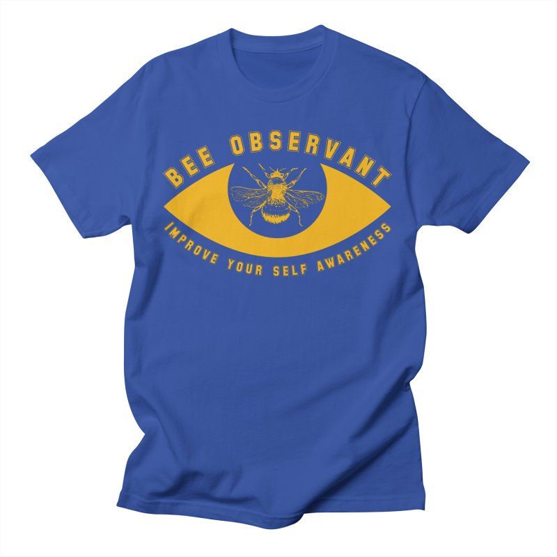 Bee Observant Men's T-Shirt by MaddFictional's Artist Shop