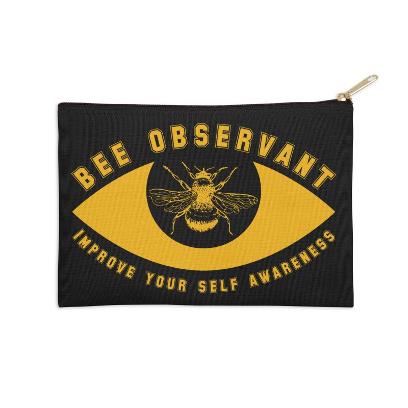 Bee Observant Accessories Zip Pouch by MaddFictional's Artist Shop