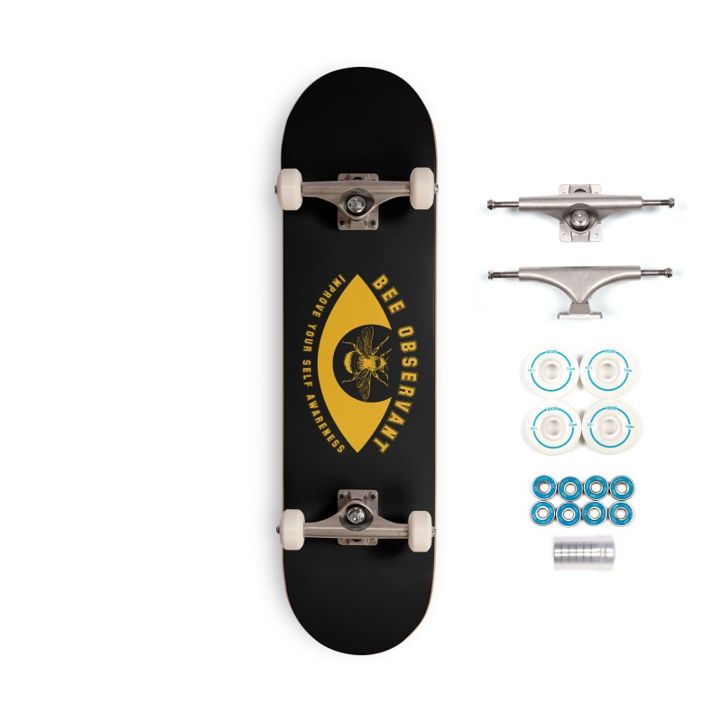 Bee Observant Accessories Skateboard by MaddFictional's Artist Shop