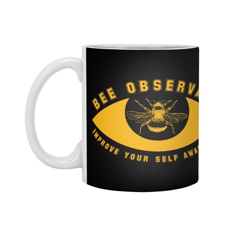 Bee Observant Accessories Mug by MaddFictional's Artist Shop