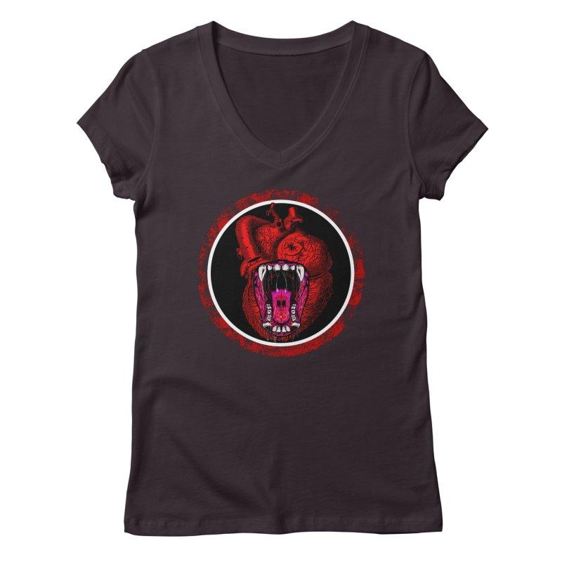 Beast Heart Women's V-Neck by MaddFictional's Artist Shop