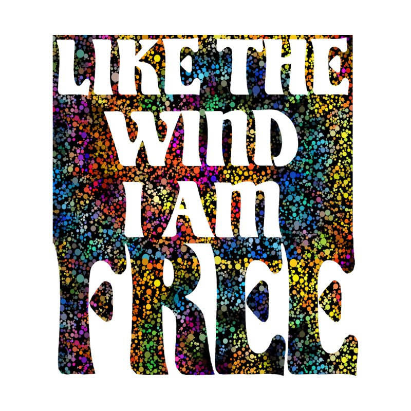 Like The Wind I Am Free Women's V-Neck by MaddFictional's Artist Shop