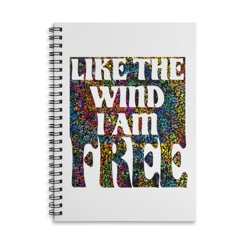 Like The Wind I Am Free Accessories Notebook by MaddFictional's Artist Shop