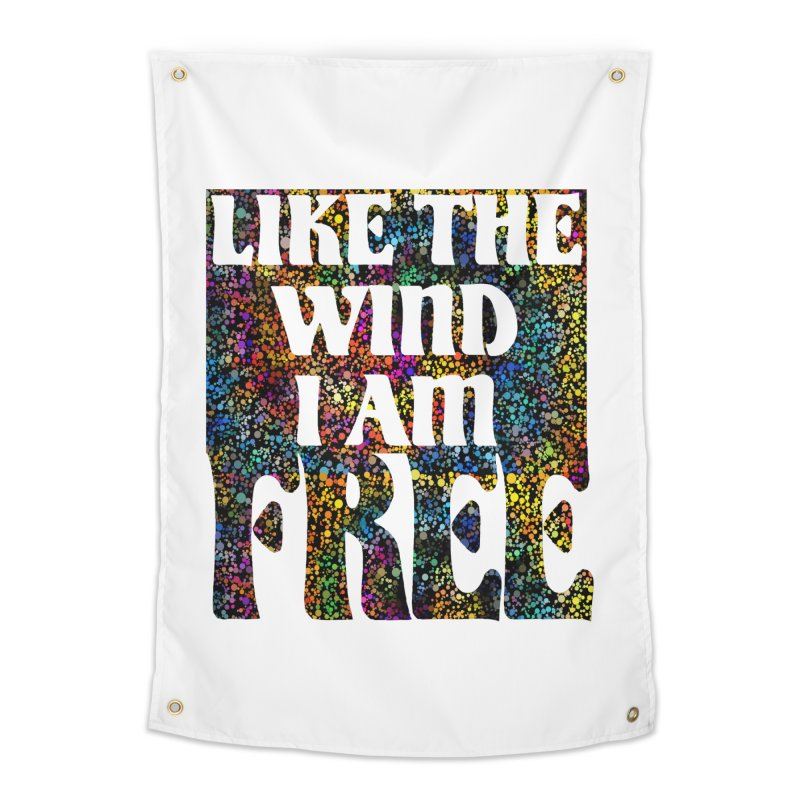 Like The Wind I Am Free Home Tapestry by MaddFictional's Artist Shop