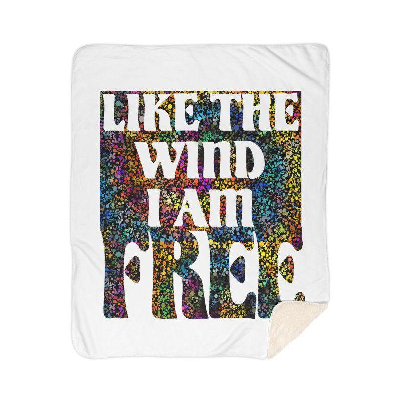 Like The Wind I Am Free Home Blanket by MaddFictional's Artist Shop