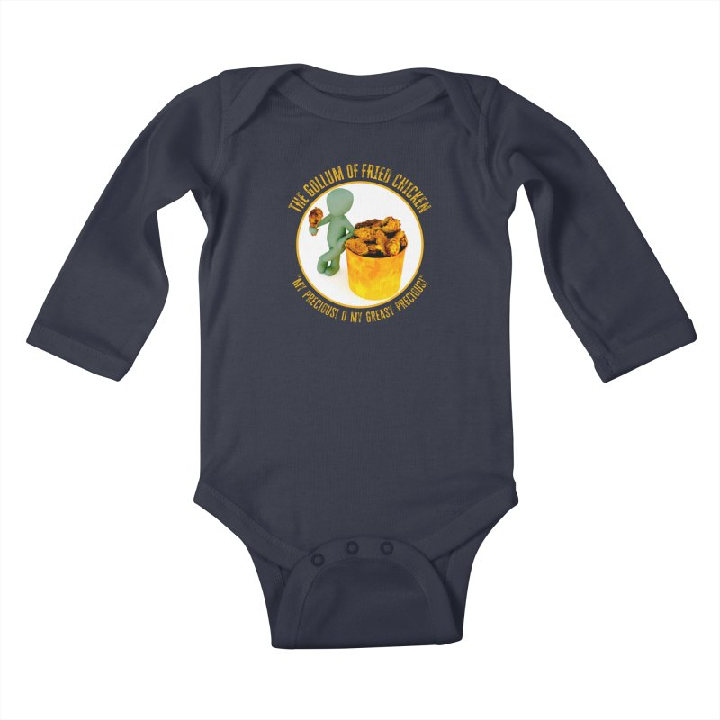 The Gollum of Fried Chicken Kids Baby Longsleeve Bodysuit by MaddFictional's Artist Shop