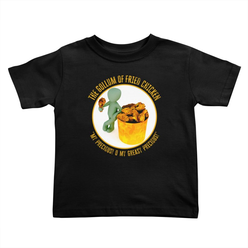 The Gollum of Fried Chicken Kids Toddler T-Shirt by MaddFictional's Artist Shop