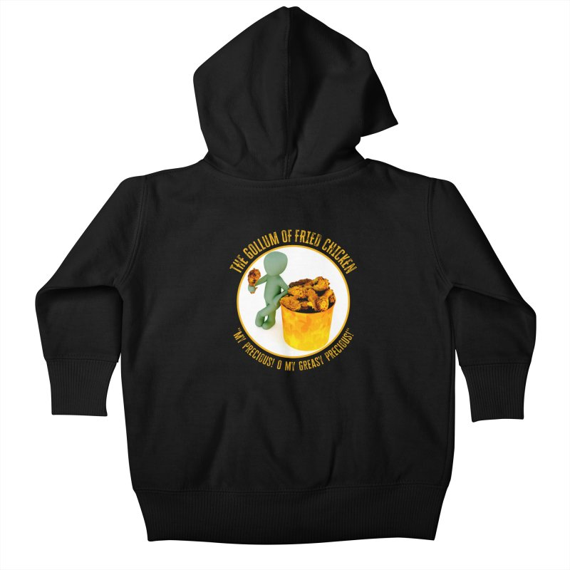 The Gollum of Fried Chicken Kids Baby Zip-Up Hoody by MaddFictional's Artist Shop